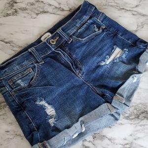 Sneak Peek Buckle denim shorts size small
